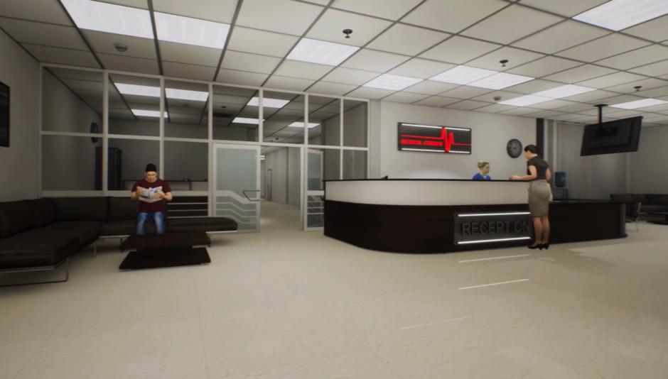 Virtual hospital reception scenario