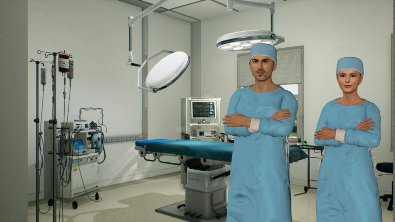 Figure 7: A doctor and nurse in an operation theatre.